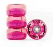 Kolečka na trekové brusle Rio Roller Light Up - Pink Glitter
