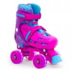 Dětské trekové brusle SFR - Hurricane Pink - svítící