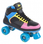 Trekové brusle Rookie Hype Hi Top Trainer Black Blue Pink Yellow